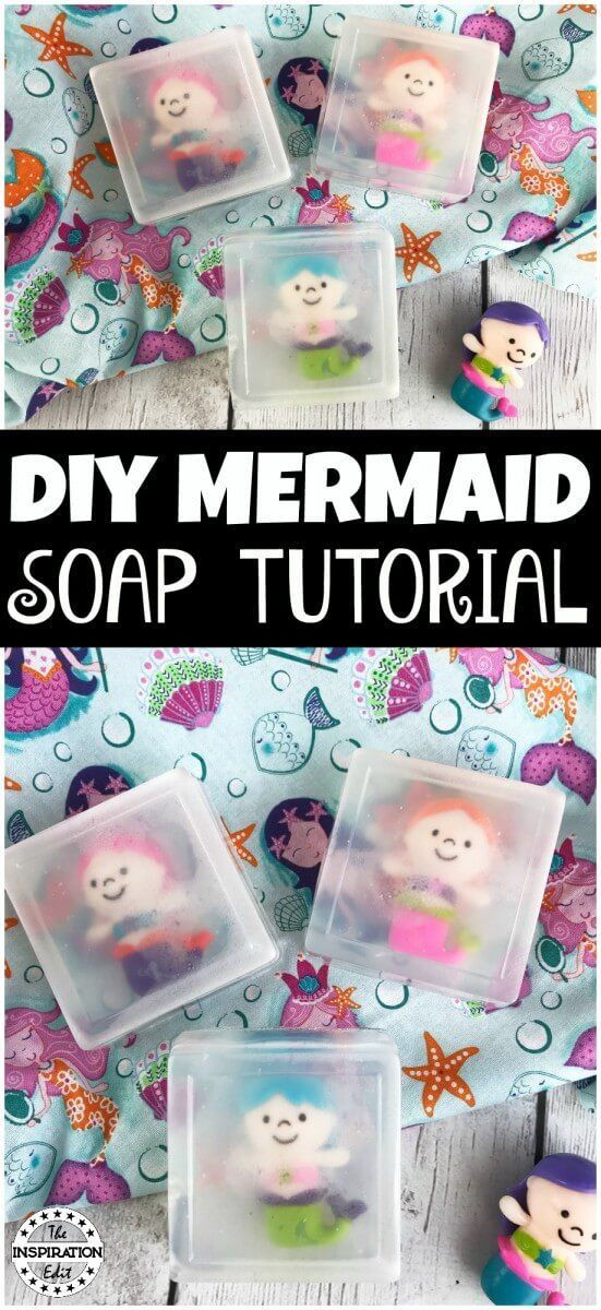 DIY Mermaid Soap Tutorial. How to make soap with or for kids. This is a cute and fun activity for that the kids will love to make or use. #frugal #soapmaking #soap #mermaid #mermaidlife #mermaidsoap #mermaidcraft #craftsforkids #kidscraft #homemade #homemadesoap