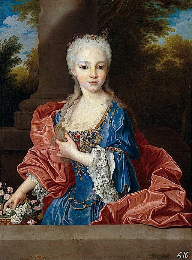 1725 (after) Infanta María Ana Victoria de Borbón by Jean Ranc