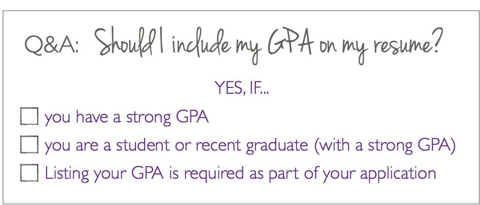 Qa should i put my gpa on my resume my resume resume