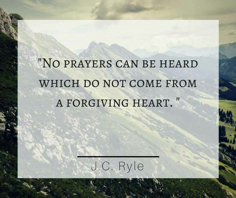christian quotes | J C  Ryle quotes | forgiveness | prayers