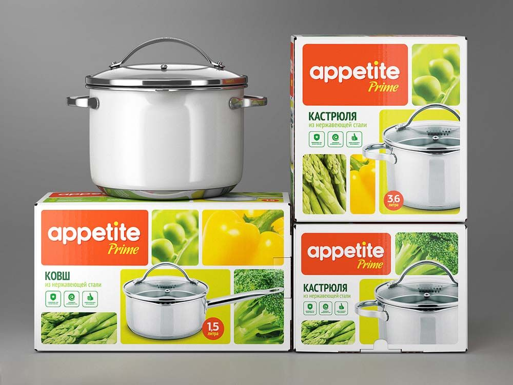 Appetite Cookware packaging, Creative packaging design