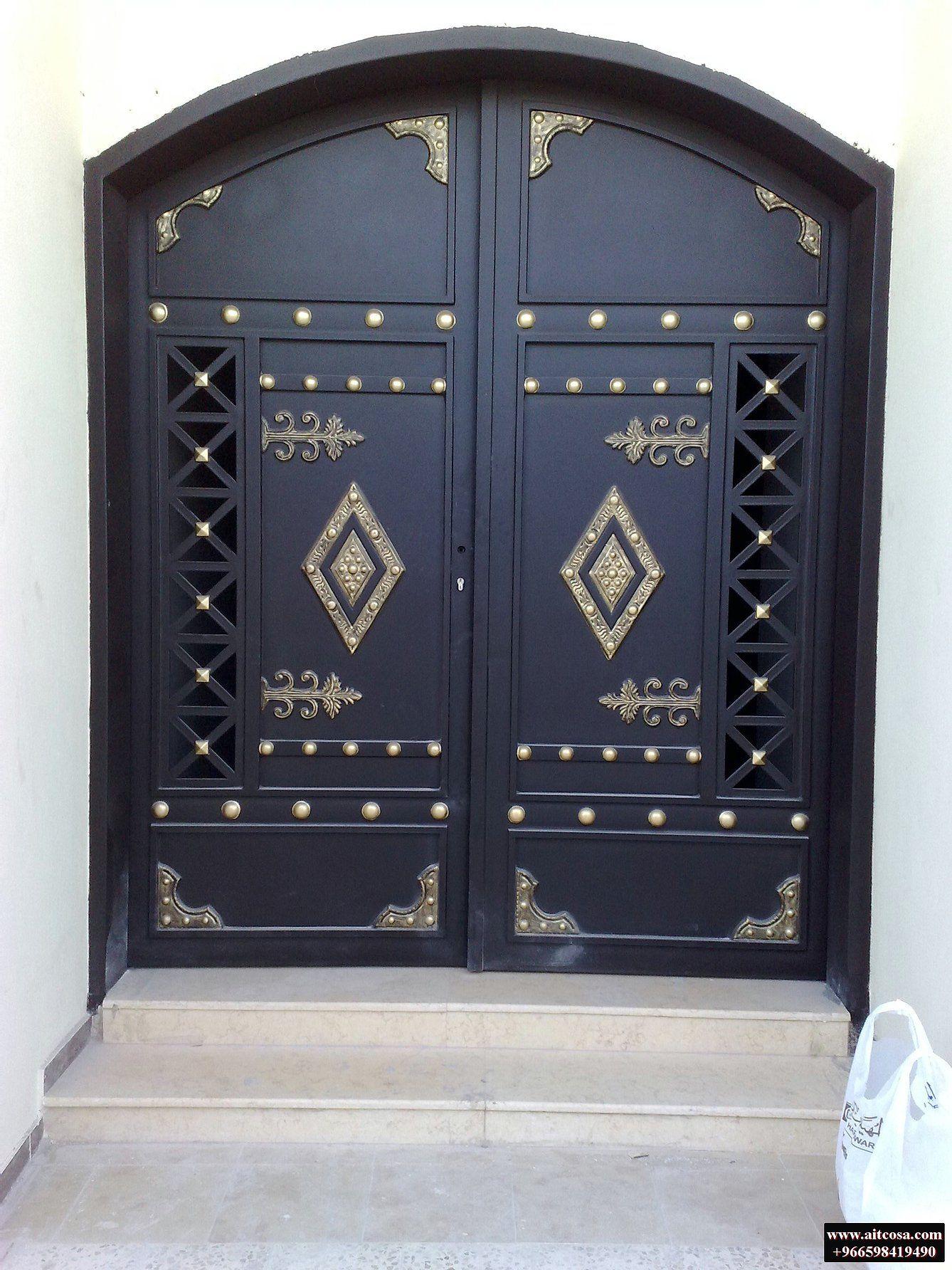 ابواب حديد خارجية 96659841490 Steel Door Design Gate Design House Main Gates Design