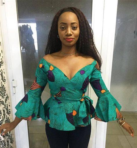 Toute femme africaine devrait avoir au moins un top en pagne wax dans sa garde robe quelque soit - Changer sa garde robe femme ...