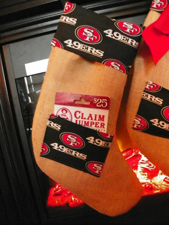 San Francisco 49ers Christmas Stocking with a Pocket for a ...