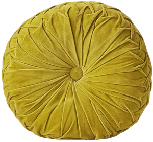 Round Pintuck Pillow | Chartreuse