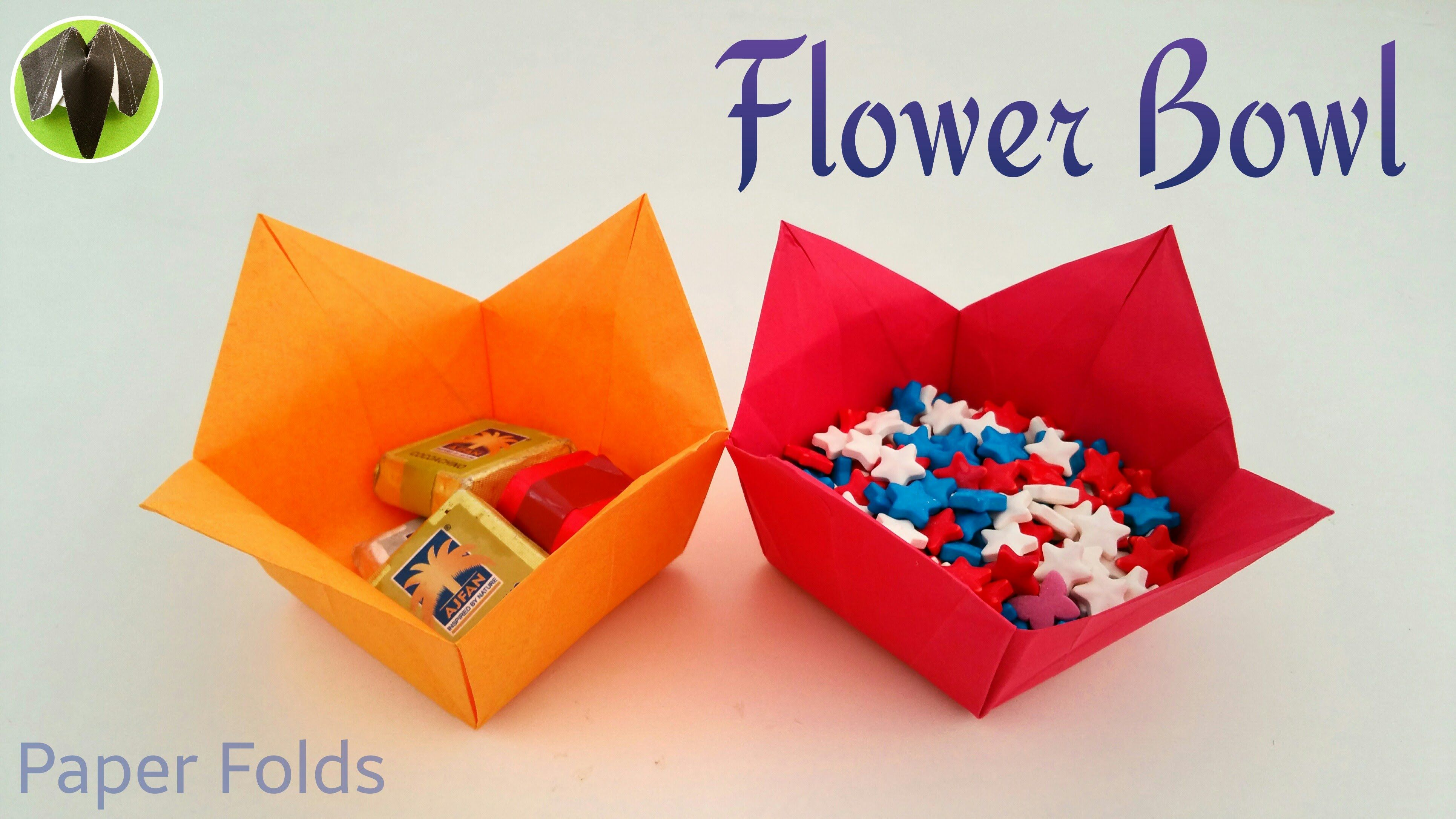 How To Make A Paper Flower Bowl Useful Origami Tutorial