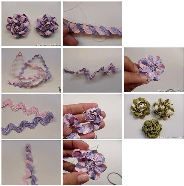 How to make beautiful ribbon flowers step by step diy for Flower making ideas step by step