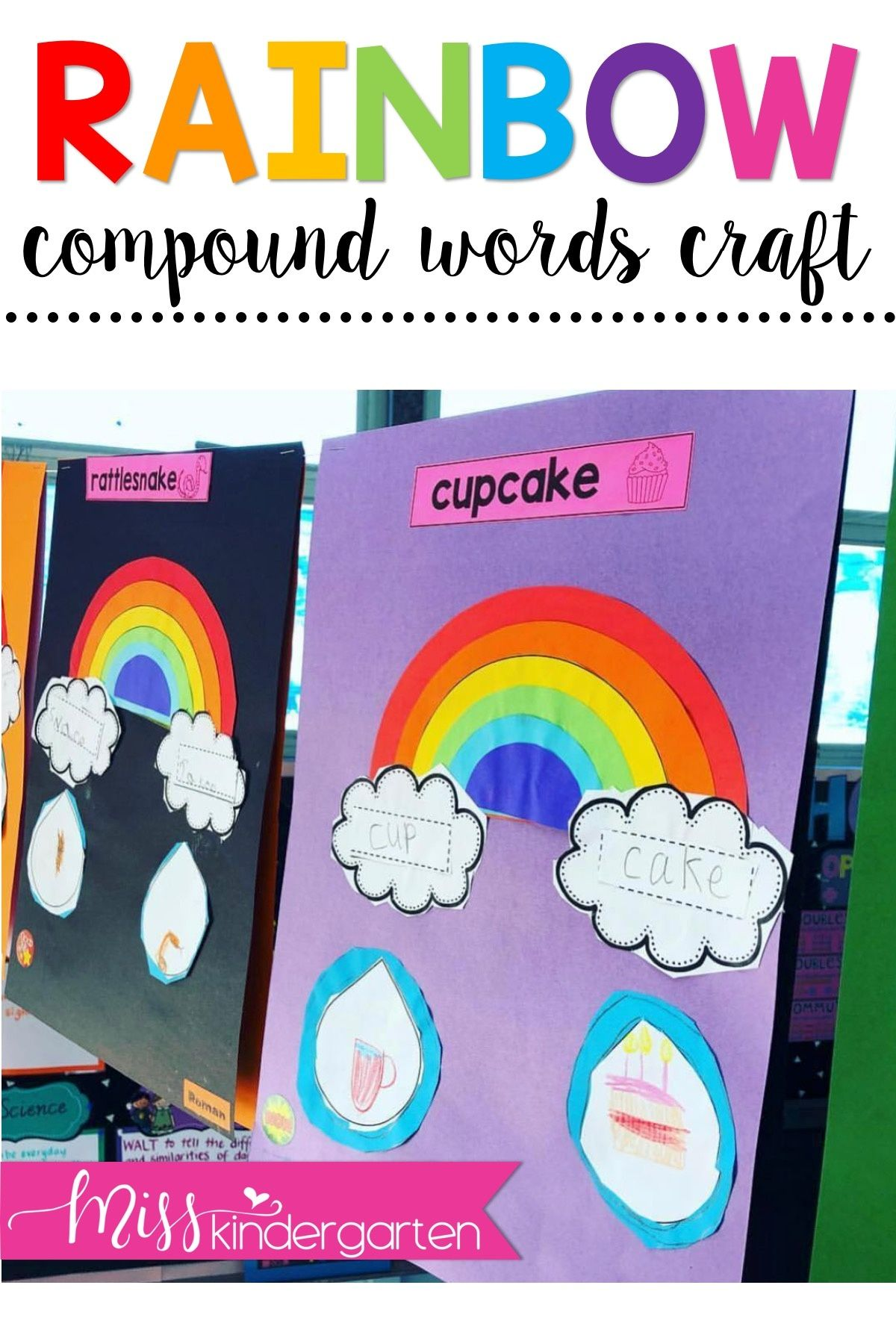 Compound Words Rainbow Craft Compound Words Miss Kindergarten Compound Words Activities [ 1800 x 1200 Pixel ]