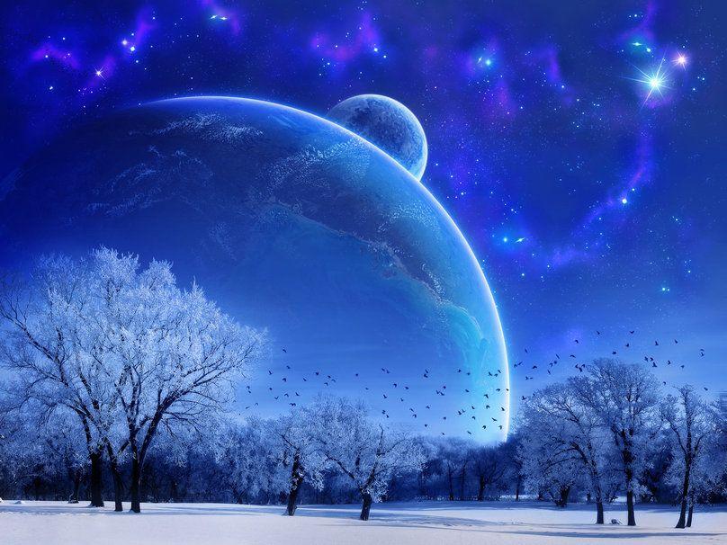 Planete Bleue Wallpaper Paysage Fantastique Paysage Hiver Paysage Enneige