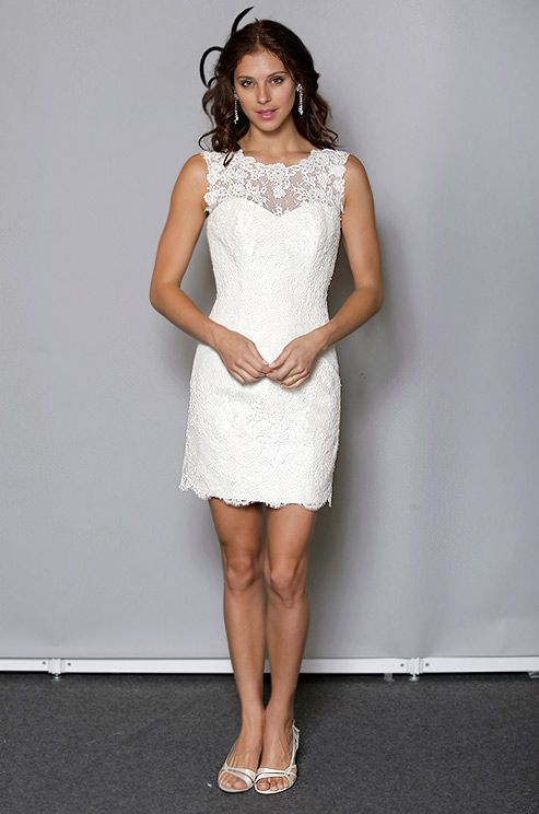 Short wedding dress from Anne Barge, Fall 2012