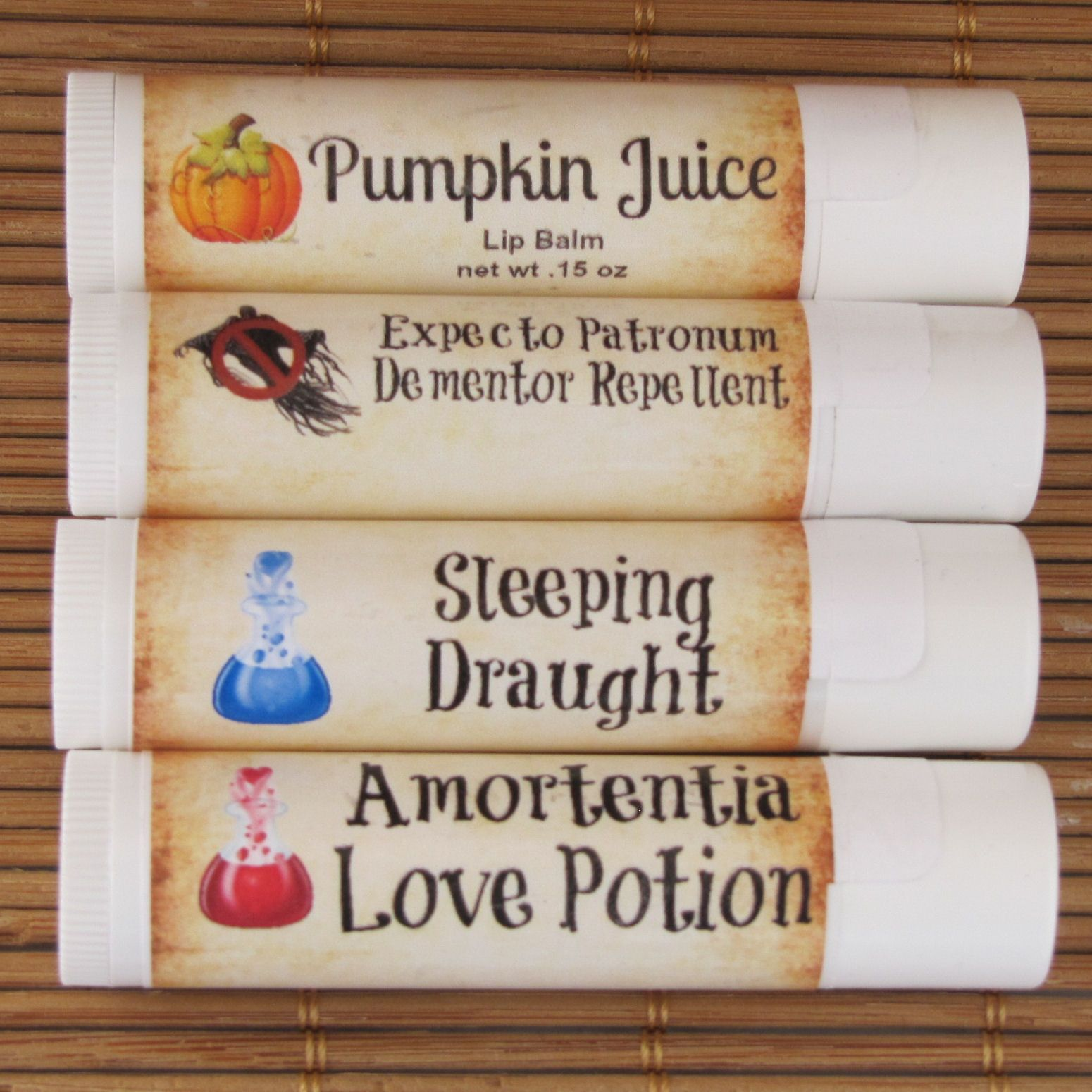 Harry Potter Potions Collection Lip Balm 4-Pack