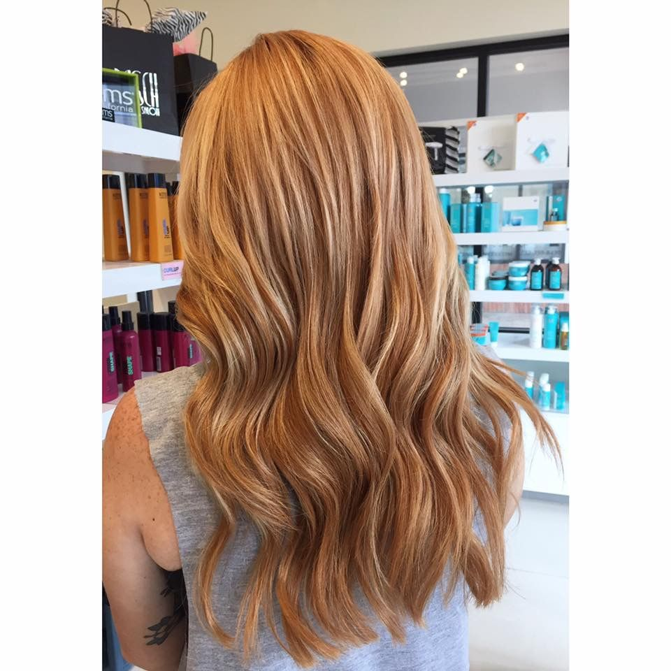 Light Copper Blonde Balayage With Custom Extensions With Images