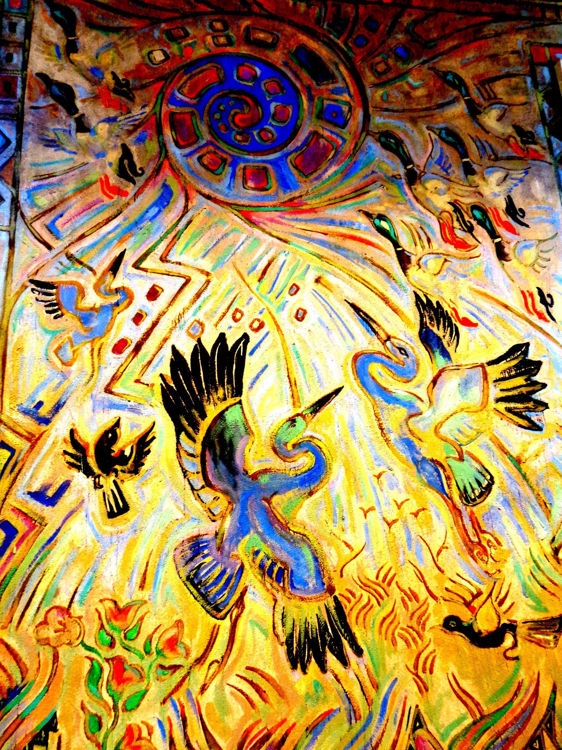 Birds ocean springs community center wall murals by