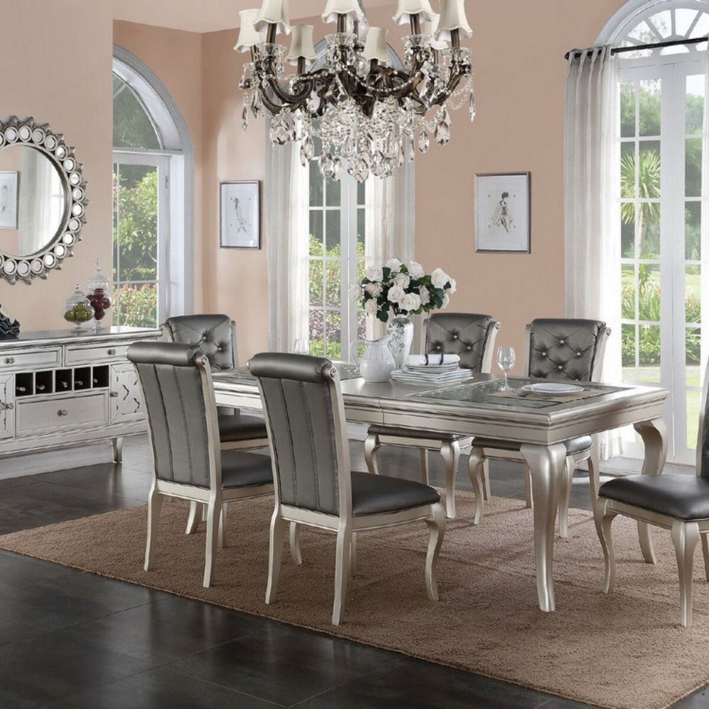 Charming And Cheap Decor Ideas Formal Dining Room: Poundex Dining Table F2151 Description: Charming And