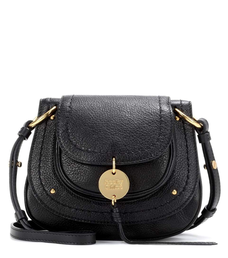 c410b4994c35 Chloe Susie Small black leather shoulder bag Small Black Leather Backpack,  Leather Backpack Purse,