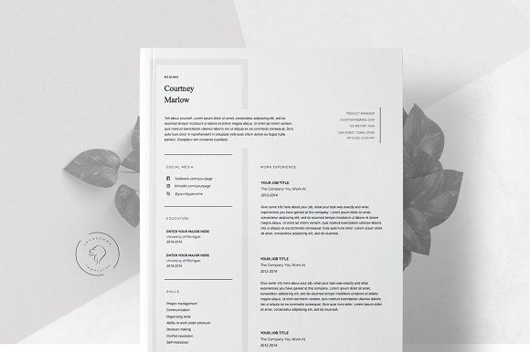 Resume Template for Word - 5 Pages Template, Simple resume and - resume 5 pages