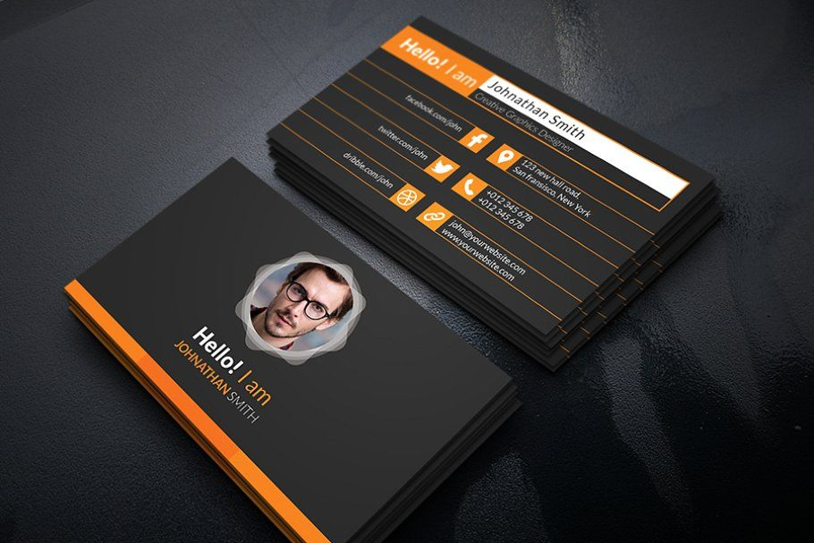 Stylish Personal Business Card Personal Business Cards Business Card Template Cards