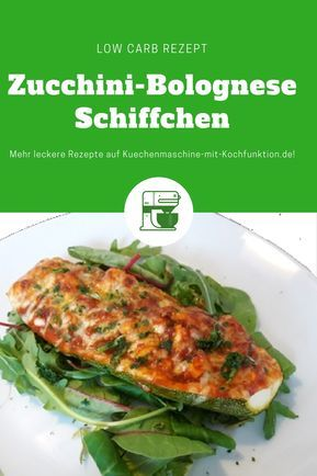 Rezept für leckere Zucchini-Bolognese-Schiffchen (fast) ohne