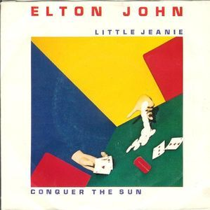 "Elton John Little Jeanie Conquer the sun Single vinilo 7"" 45 rpm Mercado de la tía Ni Vinyl single 7"""
