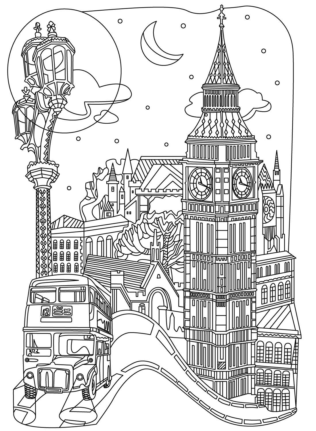 Cities Colorish Coloring Book App For Adults Mandala Relax By Goodsofttech Coloring Books Cross Coloring Page Detailed Coloring Pages