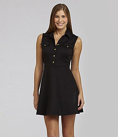 Catch My i Sleeveless Shirt Dress #Dillards
