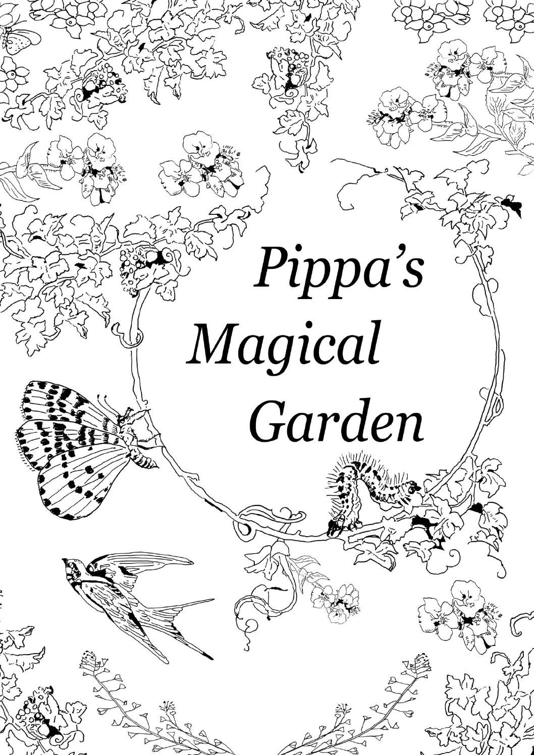 Pippaus magical garden coloring books and doodles