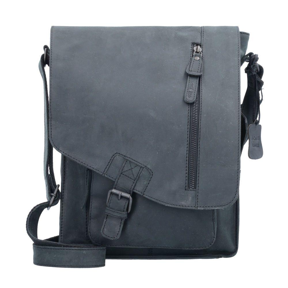 41d3b050361ff Greenburry Vintage Revival Umhängetasche Tasche Herren Leder 25 cm (black)