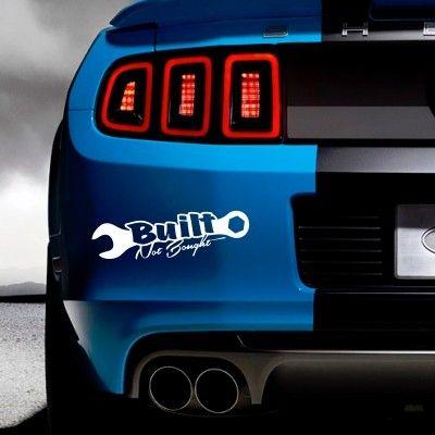 Adesivo per auto built not bought stickers murali