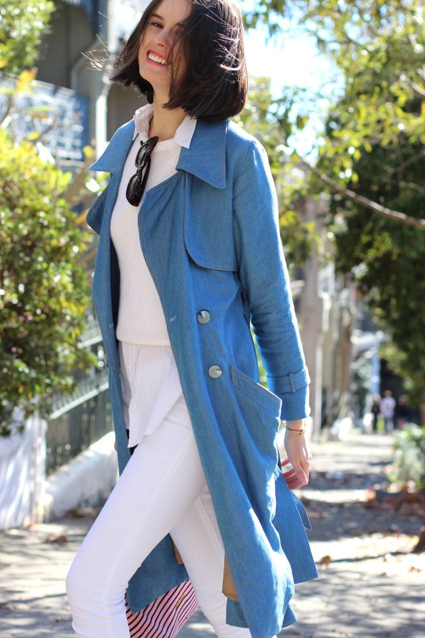 BYCHILL Chloe Hill wearing antipodium white jumper, Dress up blue ...