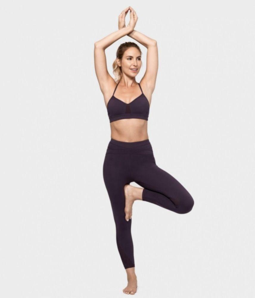 6b439bb548cfa MANDUKA Womens Drisana Crop Hot Yoga Mesh Lightweight Legging Pants Black  XS  92  Manduka  ActivewearLeggings