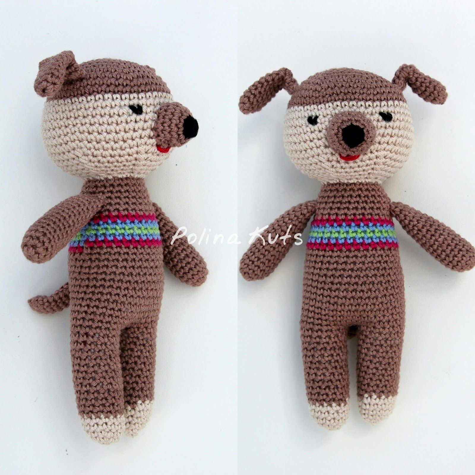Polina Kuts: МК Щенок вязанный крючком. Little crochet dog   Вязание ...