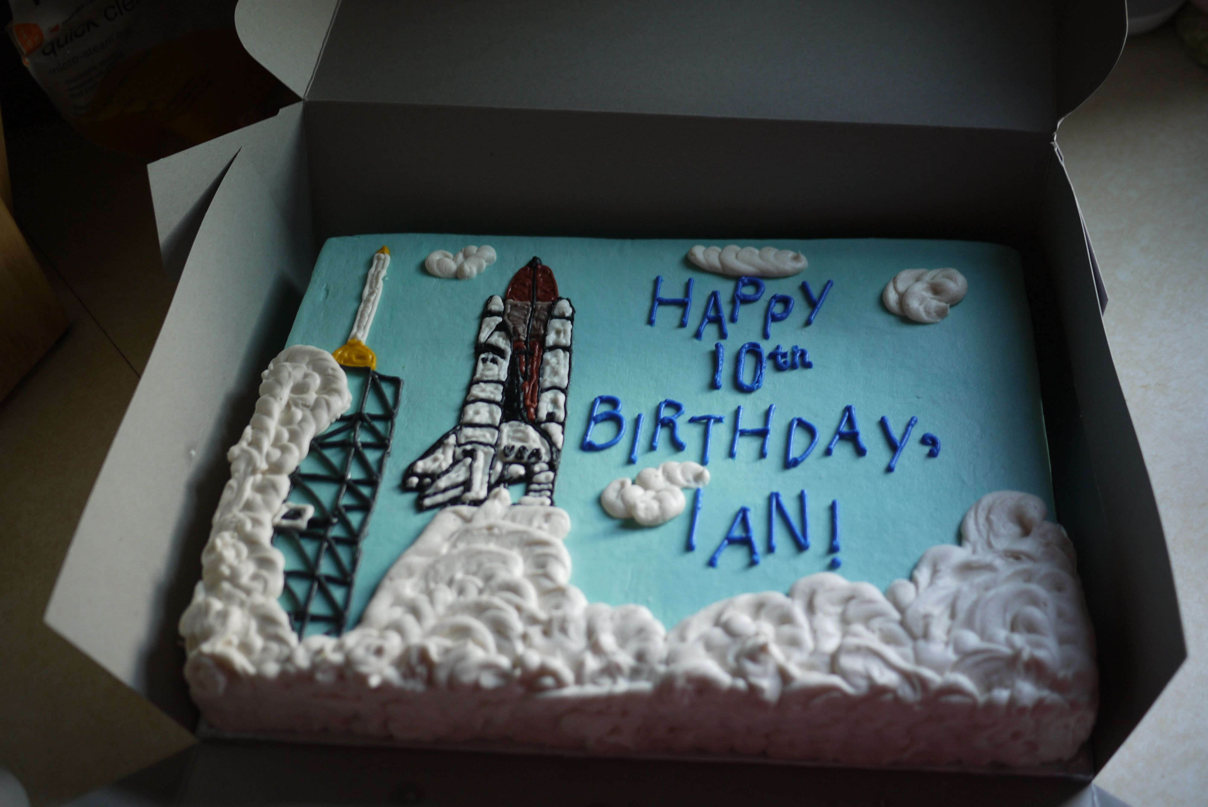 Outstanding Space Shuttle Birthday Cake With Images Birthday Space Birthday Personalised Birthday Cards Vishlily Jamesorg