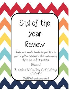 Need a way to review for the end of the year? This is the packet for you! Your students will be able to practice a variety of phonic lessons and writing activities.