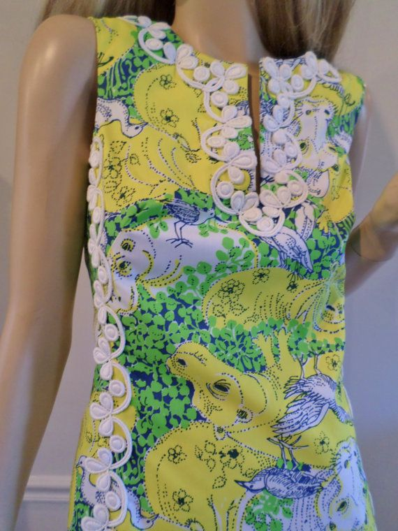 8cabd05f8c02f3 Vintage 1960's The LILLY PULITZER Hippo Bird Dress-it's crazy and I love it!
