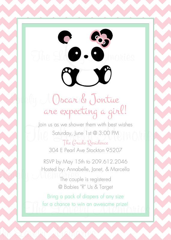 Baby Panda Baby Shower Party Printable Party by TheLovelyMemories, $15.00 #babypandas