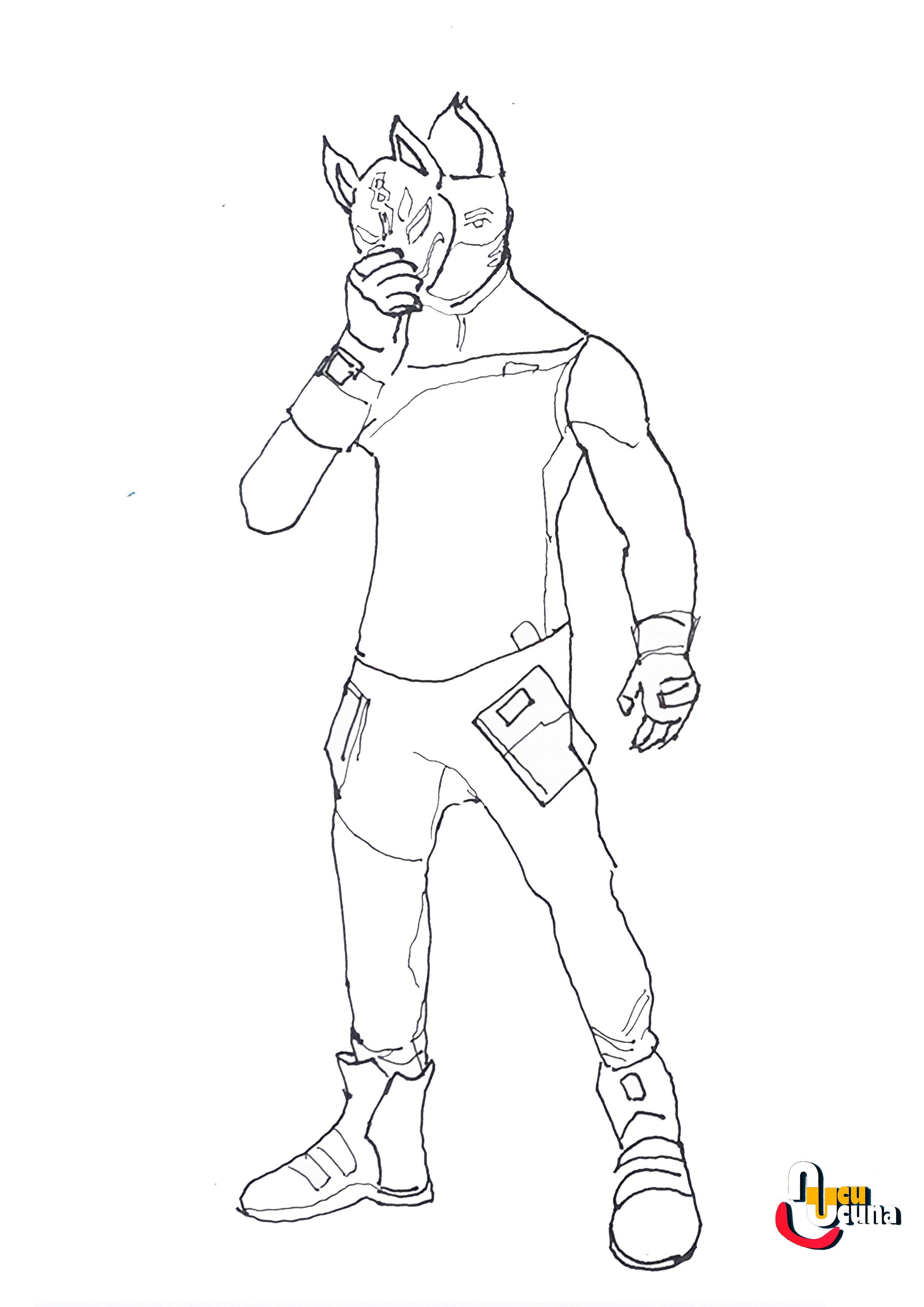 Drift Fortnite Draw Basic Step By Step Beginner Drawing Tutorial