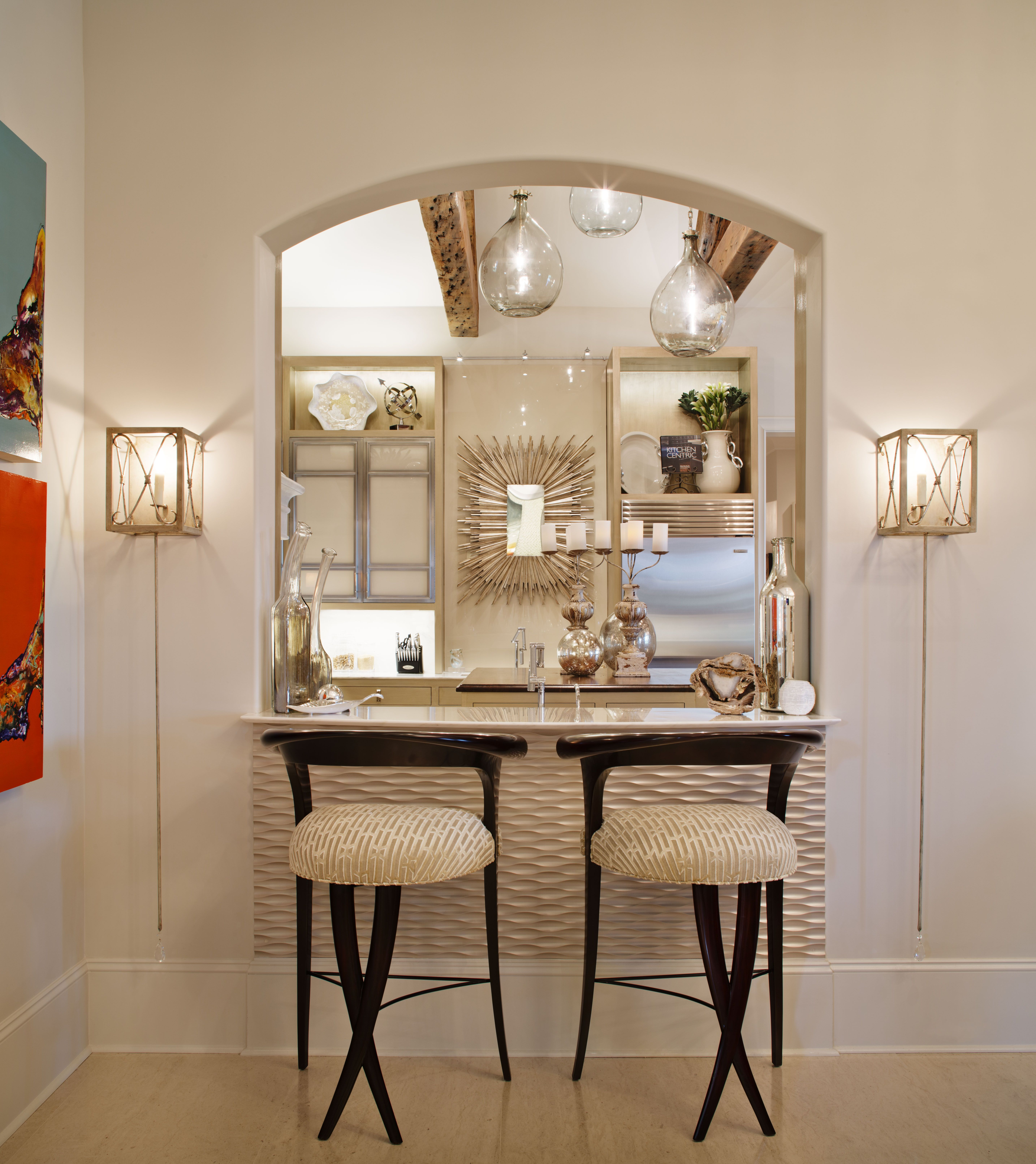 Kitchen To Dining Room Pass Through Adorable Bar Passthrough To Kitchenchristopher Guy Barstools Julie Neill Decorating Inspiration