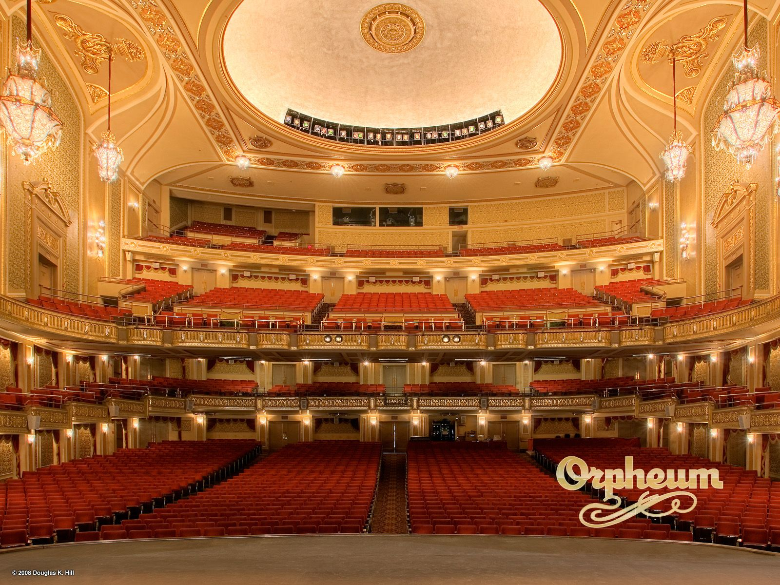 5 Orpheum theater here you can see the orchestra seating the rake