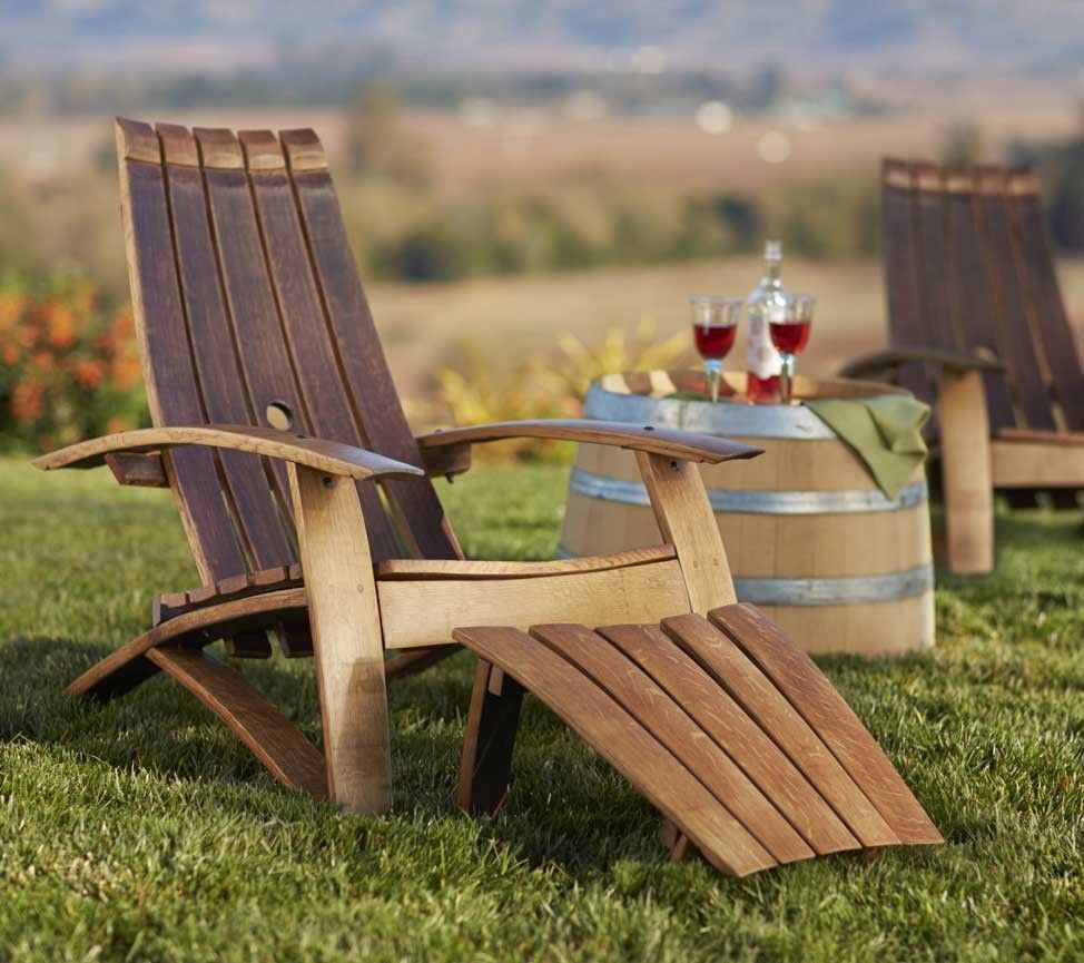 wine barrel outdoor furniture. Wine Barrel Adirondack Chair And Footstool From VivaTerra: \ Outdoor Furniture O