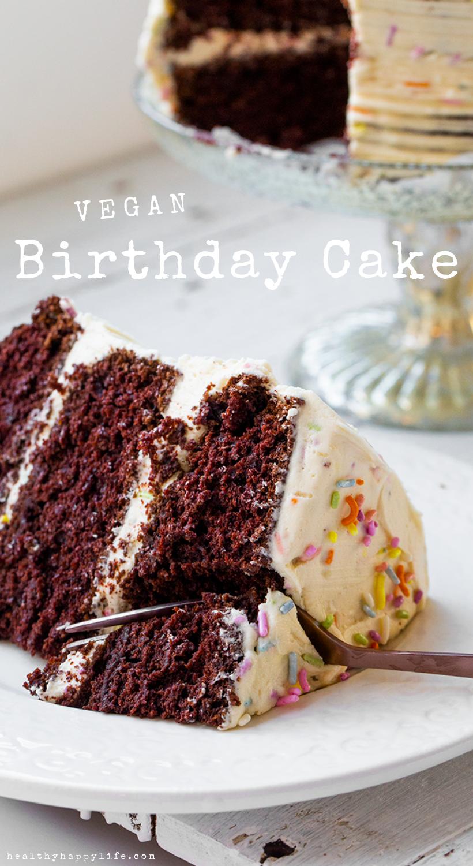 Vegane Geburtstagstorte   – food