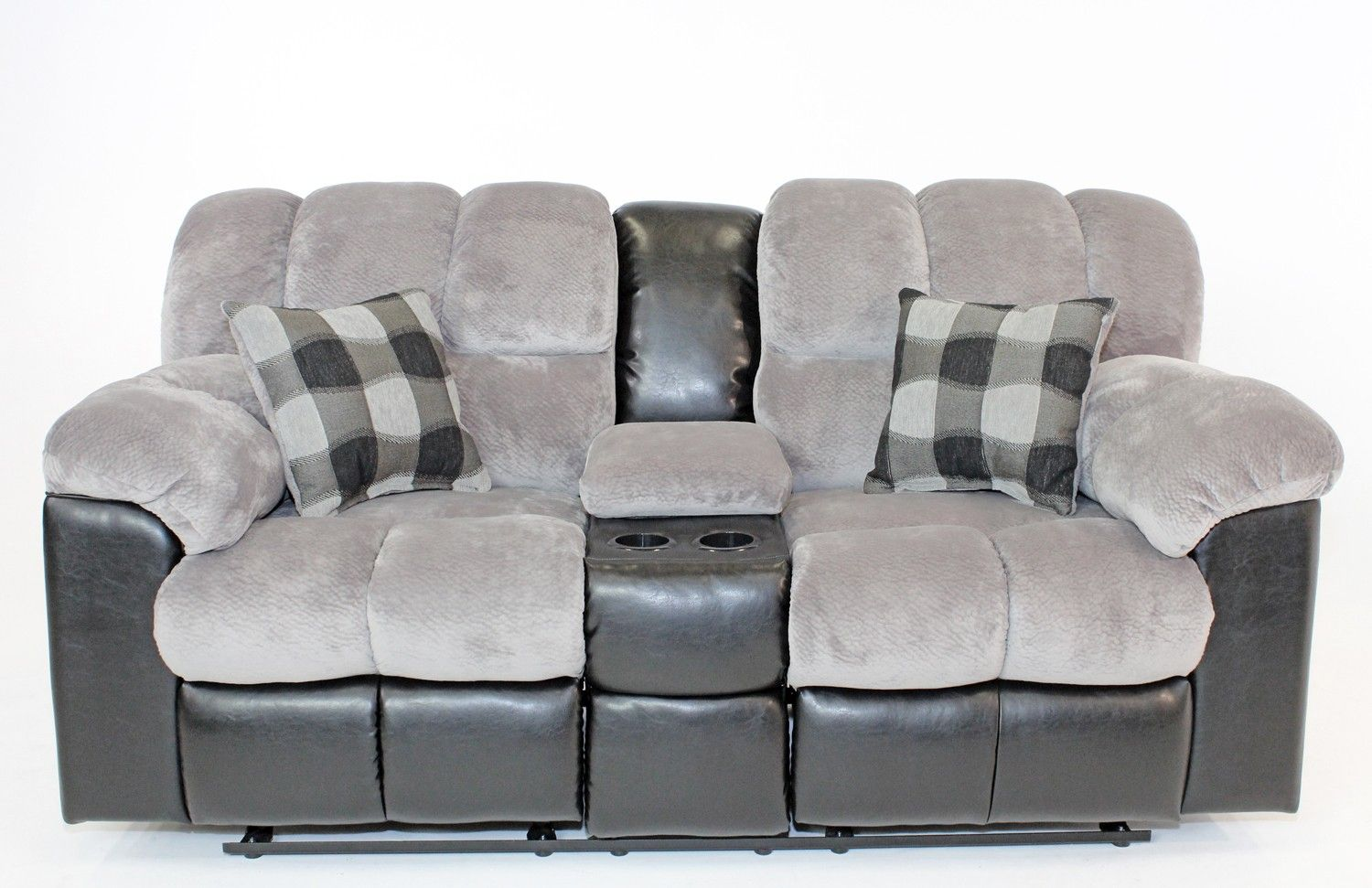 fountain gray reclining console loveseat loveseats living room mor furniture for less