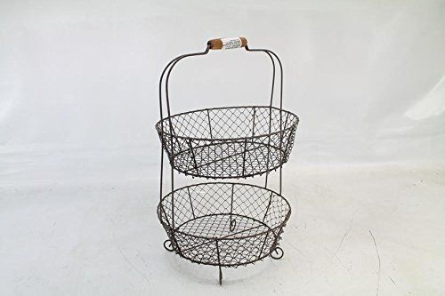 Exceptional Vintage Style Two Tiered Vegetable Basket Stand  Shabby Chic Country Home  Decor Park Hill Http://www.amazon.com/dp/B005AL1AZS/refu003dcm_sw_r_pi_dp_I6Ou2026