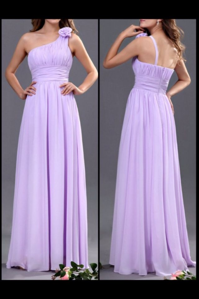 Lilac bridesmaids dress. Liking this colour.. Light pink or lilac ...