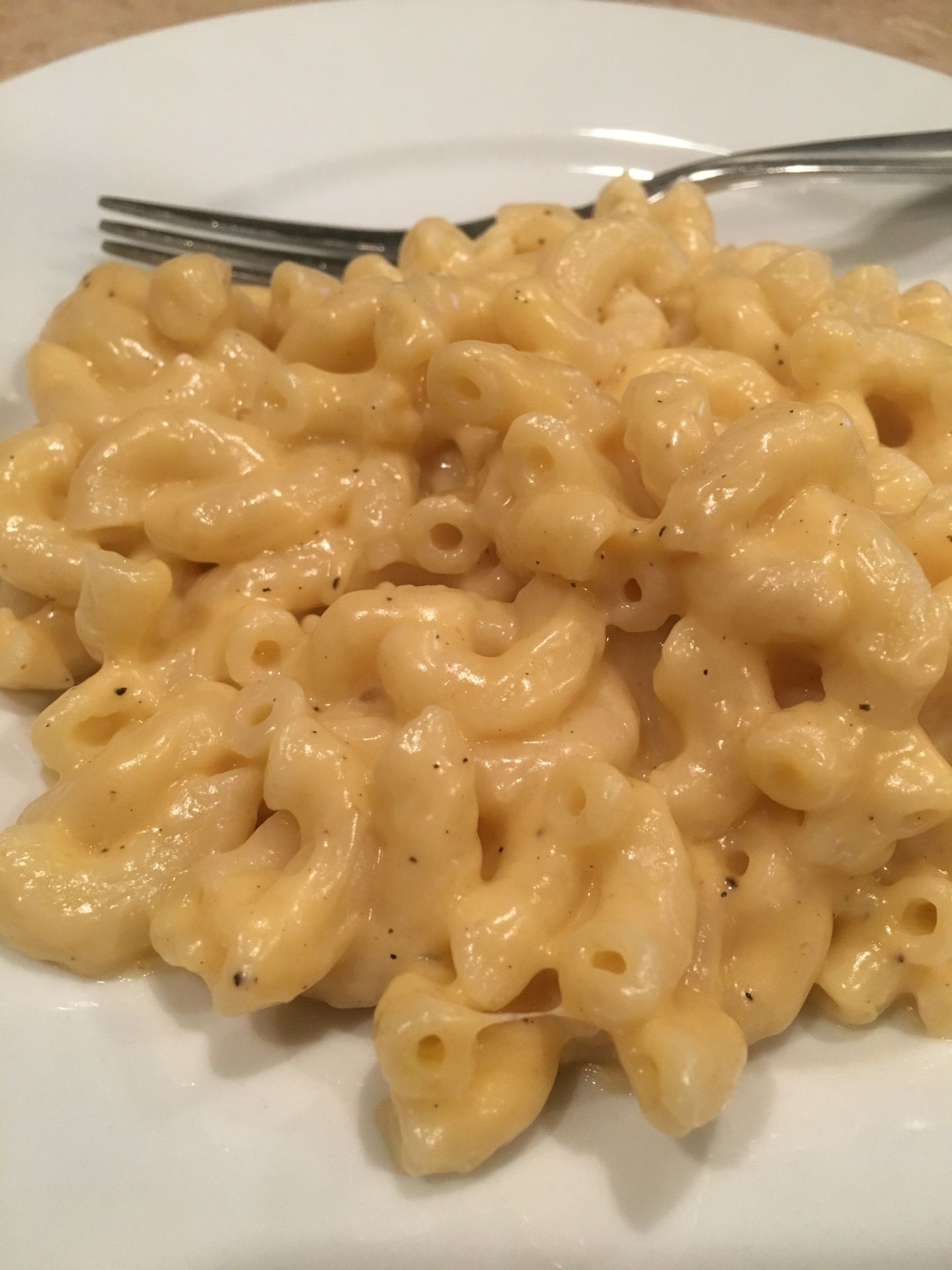 Who doesn't love mac n' cheese? No friend or family member of mine, that's for sure. Hot and cheesy, it's a classic comfort food beloved by all ages. Literally all ages, because even if you don't have teeth its soft enough to gum down. This version has three cheeses (all real, no Velveeta or American), so it's fancy, with plenty of opportunity for customization. Because the thing about cheese is that every cheese wants to go in macaroni. It's a cheese's highest calling. So I typically use...