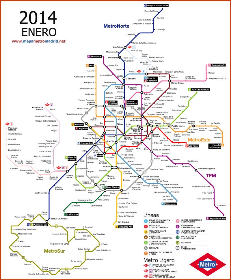 Madrid Metro Map Maps Pinterest Madrid