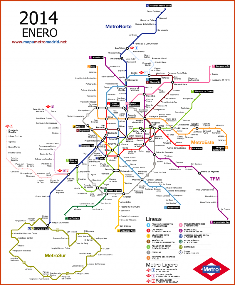 Plano Metro De Madrid Mapa.Madrid Metro Map Mapa Del Metro Metro Madrid Y Plano Metro