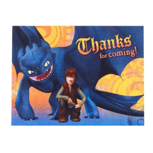 How To Train Your Dragon Thank You Cards (8 count) - List price: $3.59 Price: $0.79