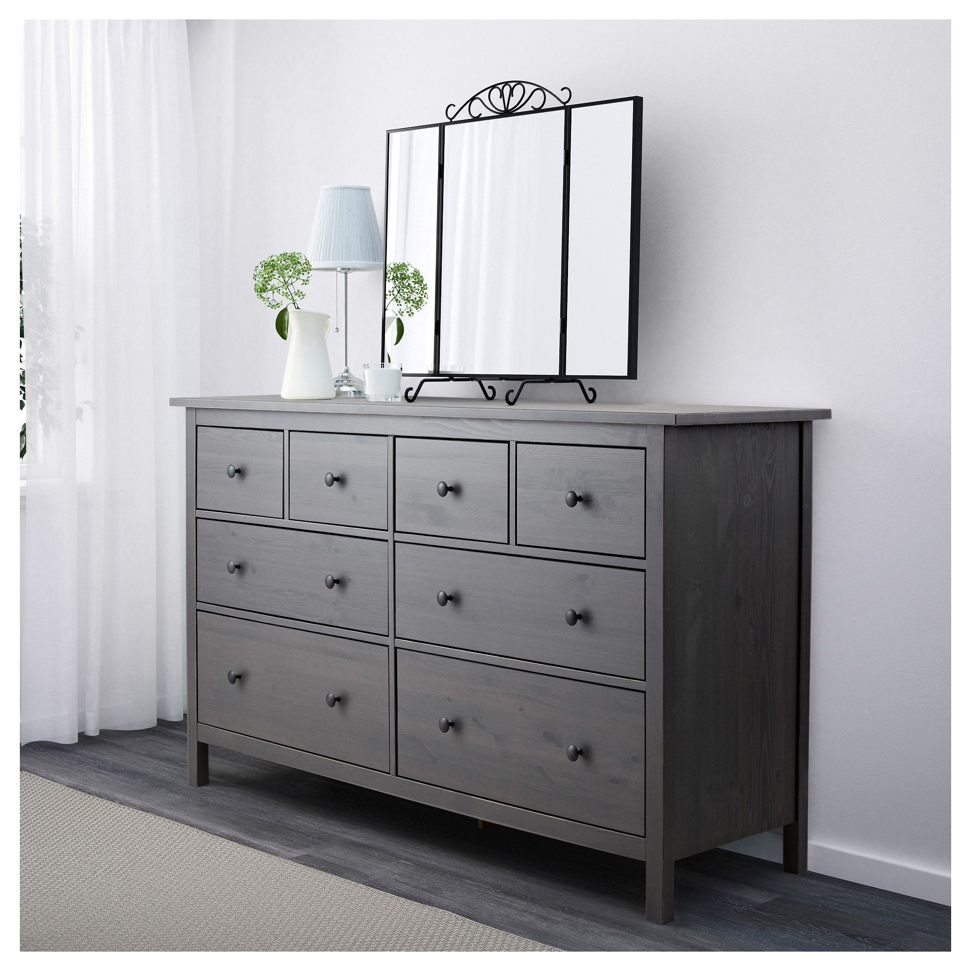 IKEA HEMNES Dark Gray Gray Stained 8-drawer dresser in 2019 ...