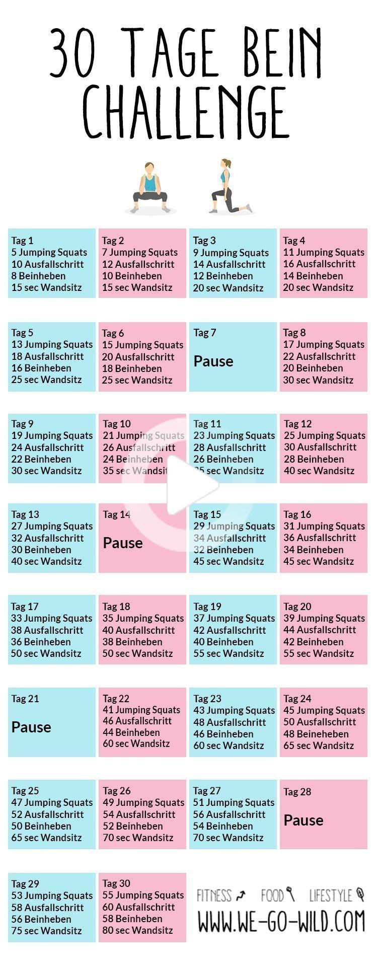30 days leg Challenge in 2020 Leg challenge, 30 day leg