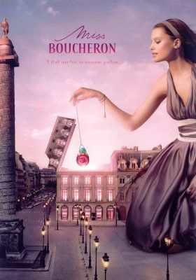 Miss Boucheron - A sweet, woody, peppery scent of pink pepper, pomegranate, rose, combining the notes of bergamot, pink pepper, violet and rose, resting on the base of white deer leather, cedar wood and musk.